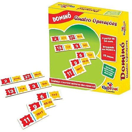 Dominó Caixa Cartonada 4 Operações 28 Peças Ciabrink