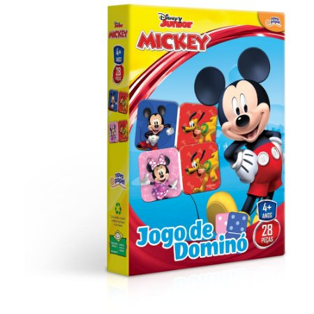Jogo de Domino Mickey Disney Junior 28 Peças Toyster