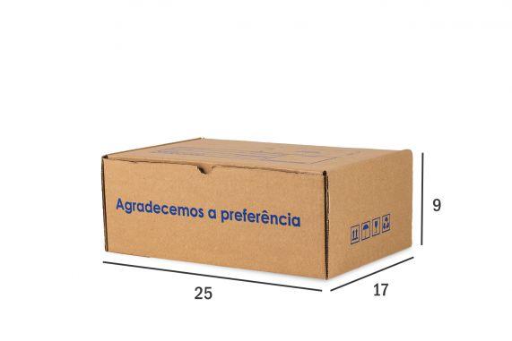 Caixa de Papelão para envio Correio  Kraft 25x17x9CM