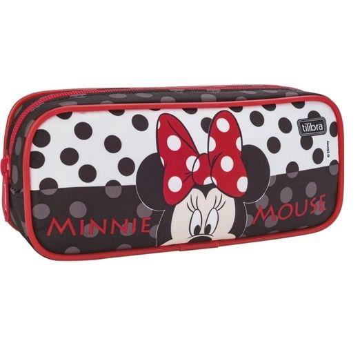 Estojo Escolar Grande Minnie Mouse Tilibra