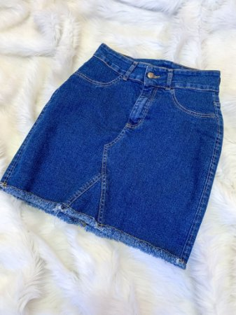 Saia Jeans Cintura Alta 36