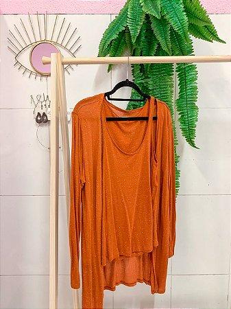 Conjunto Kimono + Regata Terracota P