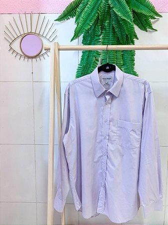 Camisa Over Lavanda G