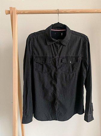 Camisa Jeans Preta P/M