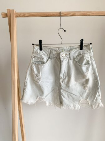 Saia Jeans Curta 36