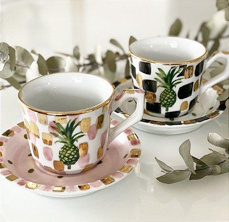 Xícaras Chá Abacaxi • 2 unidades