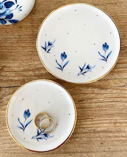 Pratinhos 11 e 8cm | Floral Azul