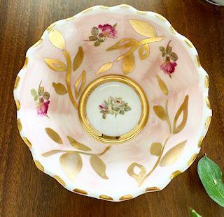 Tigela Rosália | Porcelana Flor 13,5x5,5cm