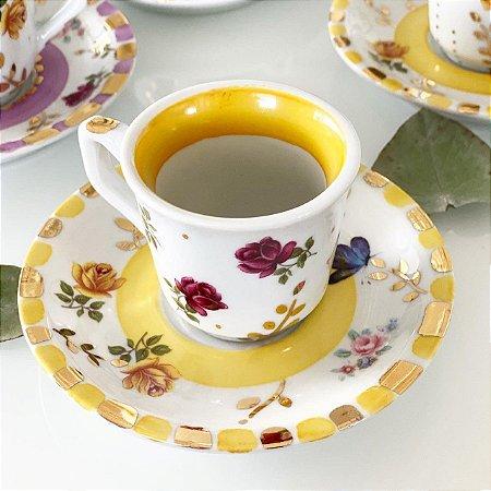 Xícara Café Jardim Amarelo 1