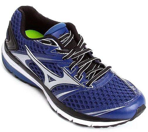 """Tenis Mizuno Iron 2 N Azul/Prata """"Tam.43"""""""