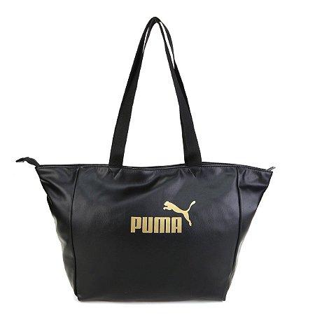 Bolsa Puma Core Up Large Shopper - Preto e Dourado