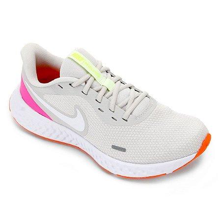 Tenis Nike Revolution 5 Branco/Rosa