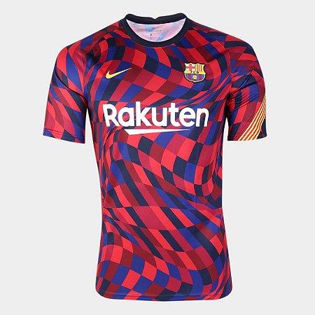 Camisa Nike Barcelona Pré-Jogo 20/21 Nike