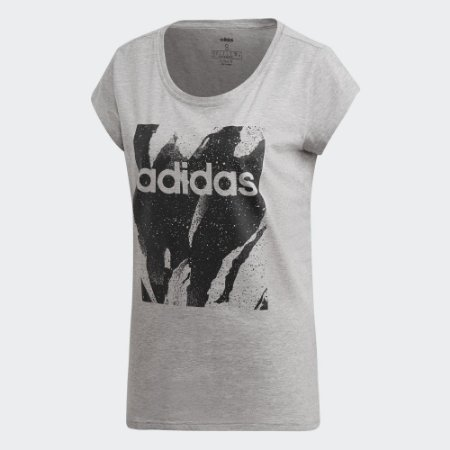 Camiseta Estampada Adidas Essentials - Feminina