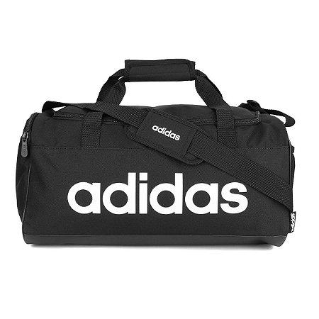 Mala Adidas Linear Duffel - Preto e Branco