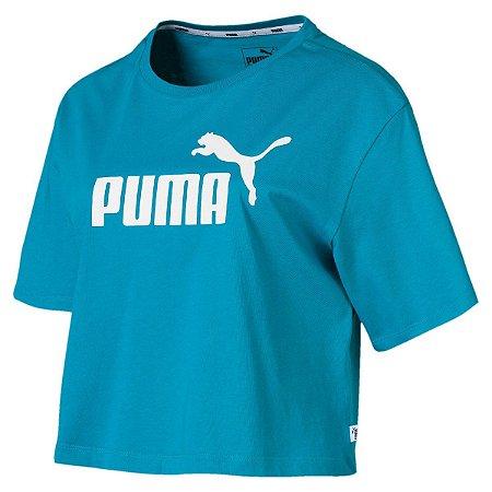Camiseta Puma Essentials Cropped Tee Azul