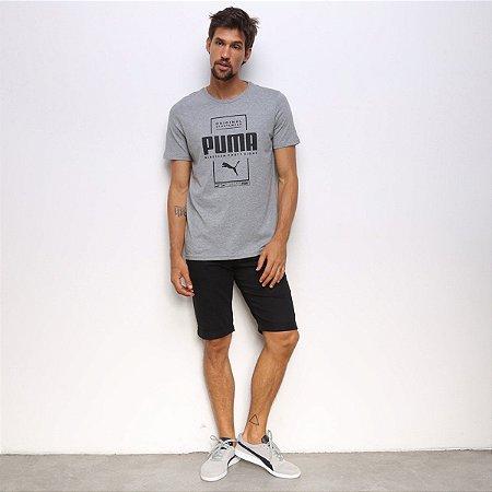 Camiseta Puma Box Puma Tee Cinza