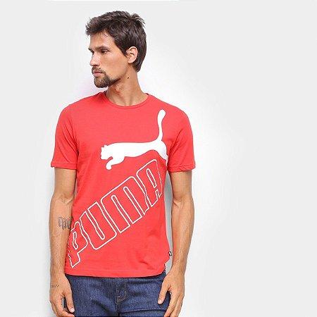 Camiseta Puma Big Logo Tee Vermelha