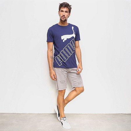 Camiseta Puma Big Logo Tee Azul Marinho