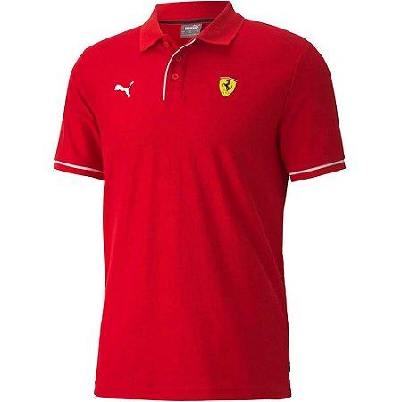 Camisa Polo Ferrari Race Rosso Corsa