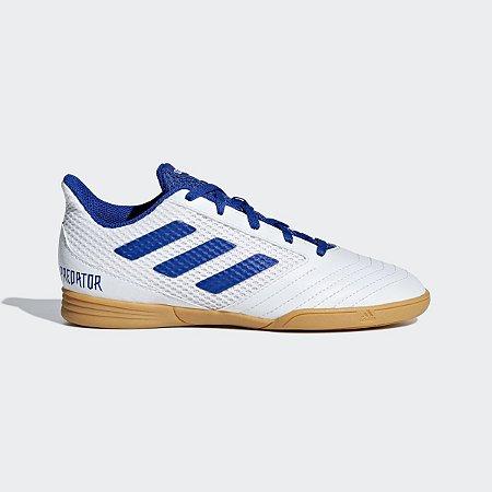 Chuteira Adidas Predator 19.4 Jr Futsal Branco