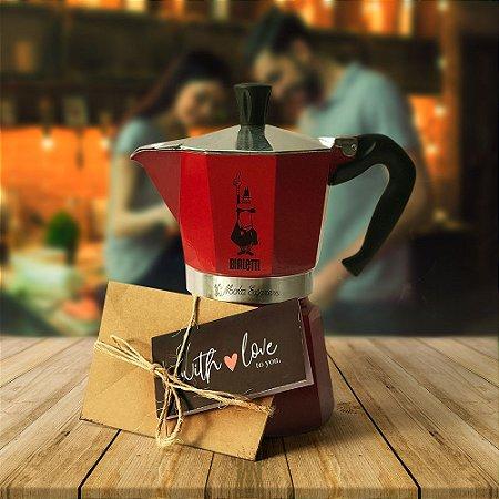 Cafeteira Rainbow Vermelha 3 xícaras – Bialetti