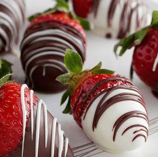 Morango com cobertura de chocolate (mín 24 uni)