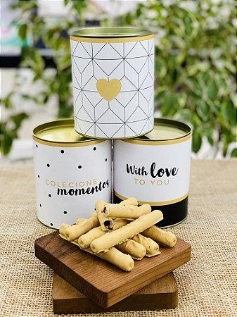 Lata Personalizada com waffle de caramelo e flor de sal | LINHA PREMIUM