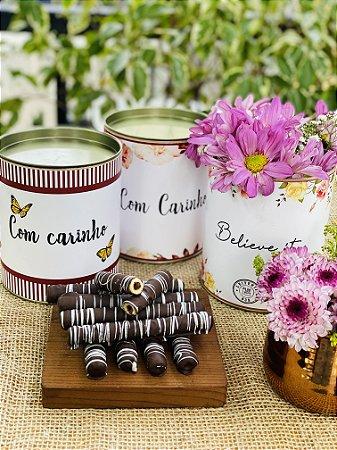 Lata Personalizada com waffle de chocolate | LINHA DIA DAS MÃES