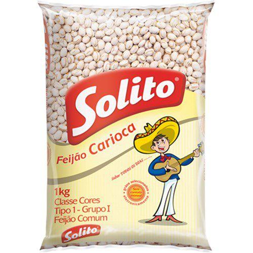 Feijão Carioca Solito Tipo 1 Pacote 1Kg