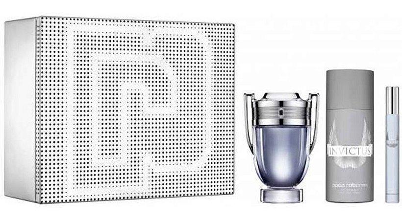 Kit Invictus 100ml + Desodorante Spray 150ml + Caneta 10ml