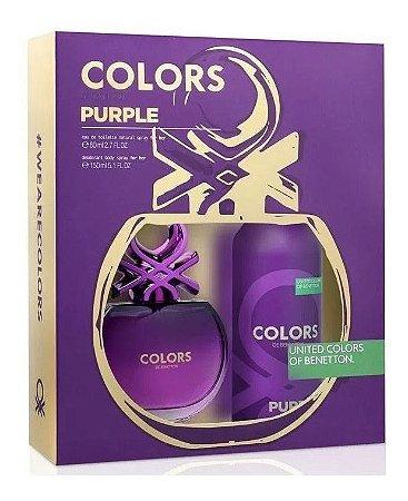 Kit Benetton Colors Purple 80ml + Desodorante Spray 150ml