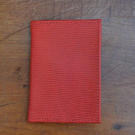 Porta Cartão Couro Vermelho