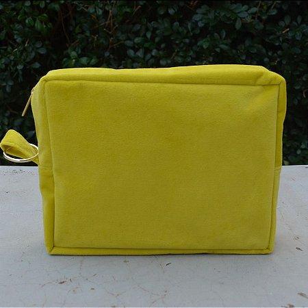 Necessaire Plush Amarela - Grande