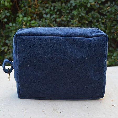 Necessaire Plush Azul Marinho - Grande