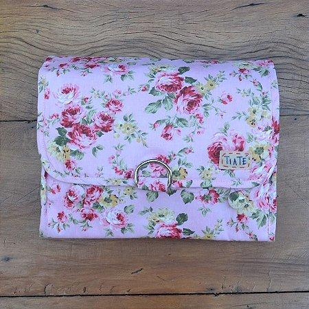 Necessaire Bag Floral Rosa Bebê
