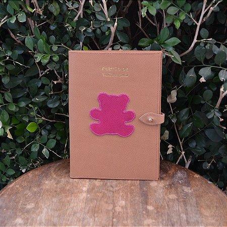 Porta Vacina Caramelo com Urso Pink