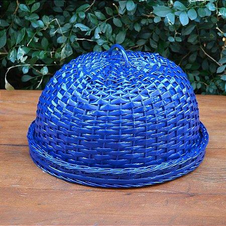 Boleira Azul em Palha