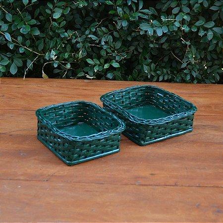 Kit Bandejas Verde - 2 peças