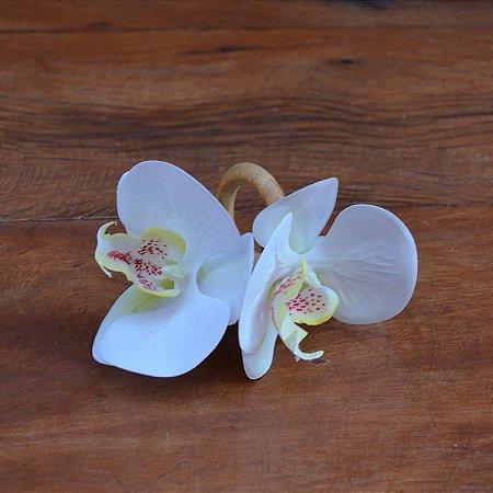 Porta Guardanapo Orquídea Branca - 2 peças