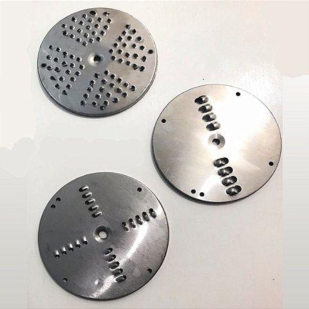 Kit 03 Discos Ralador para o Ralador de Queijo e Coco  Braesi RQ-01