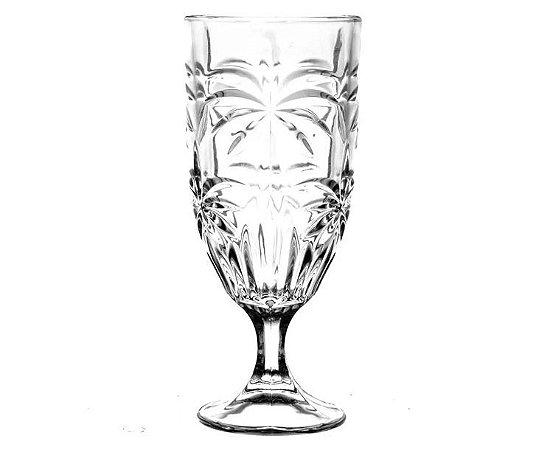 Conjunto 06 Taças de Cristal Wolff Palm Tree Chumbo 450ml