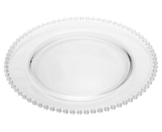 Sousplat Cristal de Chumbo Pearl 32cm