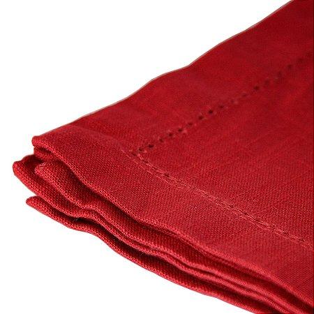 Conjunto 03 Guardanapos Royal Algodão Vermelho 40cm