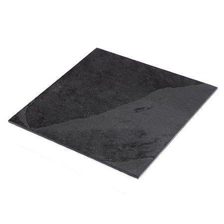 Prato de Ardósia Quadrado Liso 20cm