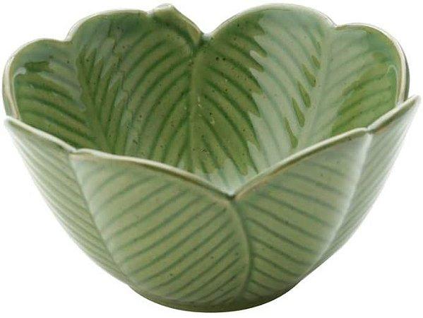 Centro de Mesa de Cerâmica Lyor Banana Leaf Verde 13cm