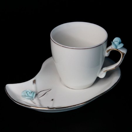 Conjunto de 06 Xícaras para Café em Porcelana Wolff Flower Design 90ml