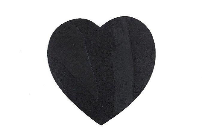 Prato de Ardósia Coração Liso 30cm