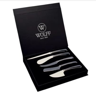 Jogo de facas para queijo 5 peças inox – Wolff
