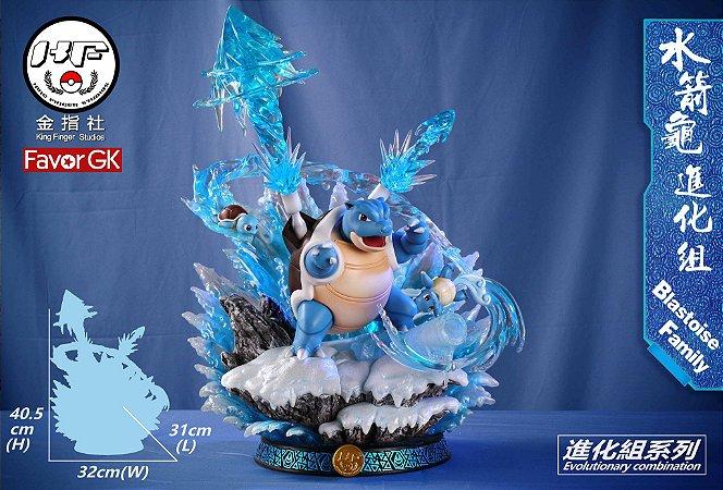 Figure Evolution of Blastoise Family - Pokemon Resin Statue - King Finger Studios